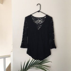 Stretchy lace top
